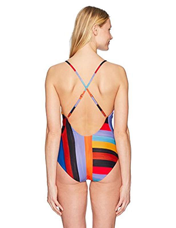 4543dbd017020 Lyst - Mara Hoffman Emma Cross Back One Piece Swimsuit in Black