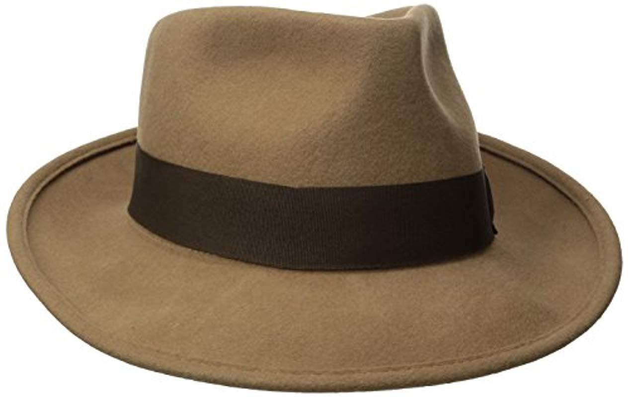 02b64ca2f8a Lyst - Brixton Swindle Fedora in Brown for Men