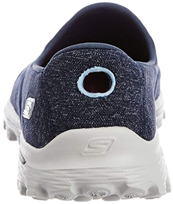 Lyst - Skechers Performance Go Walk 2 Super Sock 2 Slip-on Walking Shoe in Blue - Save 37.096774193548384%