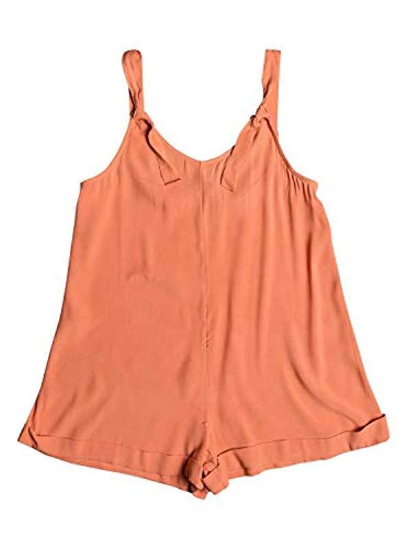 7f6ab90beaaa Lyst - Roxy Cutty Heart Romper in Orange