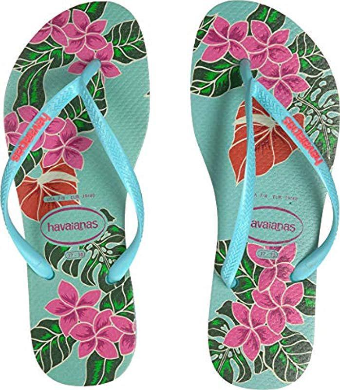 37efe57b337ebe Havaianas - Slim Floral Sandal Ice Blue - Lyst. View fullscreen