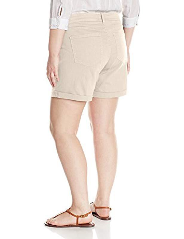 4aa2aee5c0 Lyst - NYDJ Plus Size Avery Jean Short In Colored Bull Denim
