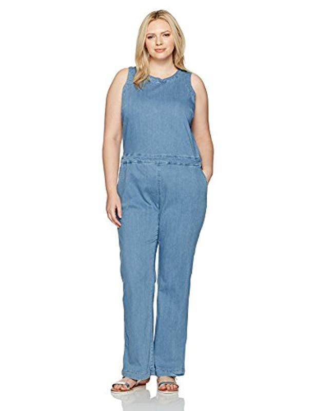e2e11b4b972c Lyst - RACHEL Rachel Roy Plus Size Cutout Jumpsuit in Blue