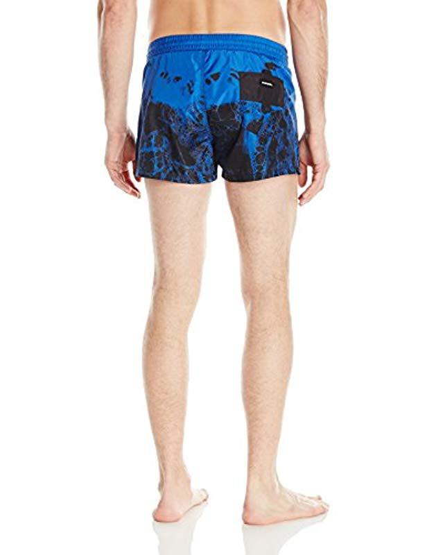 1da591b5a7 Lyst - DIESEL Wave 2 Inch Pattern Swim Trunk in Blue for Men