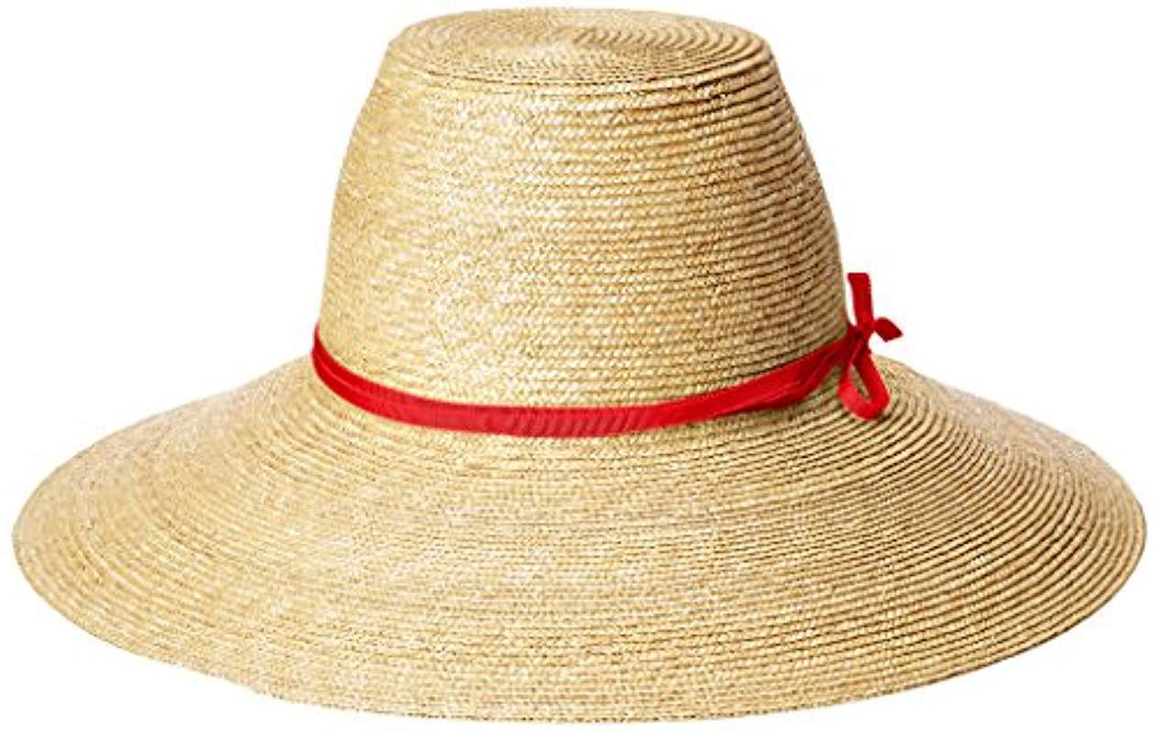 b2392aeb86f Lyst - Gottex Cote D azur Fine Milan Straw Sun Hat Rated