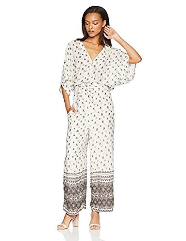 34f03f22af1 Lyst - Splendid Desert Batik Print Jumpsuit in Natural - Save 65%