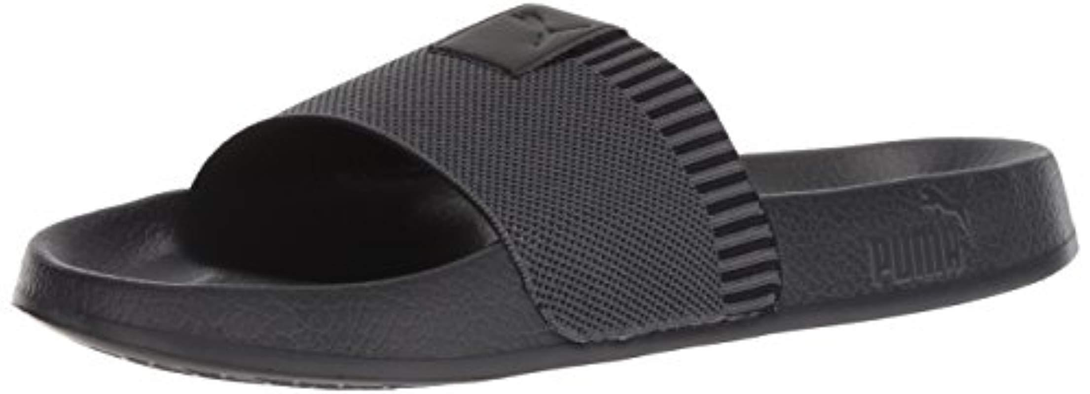1e3de2c6c0c3b Lyst - PUMA Leadcat Knit Slide Sandal in Black for Men