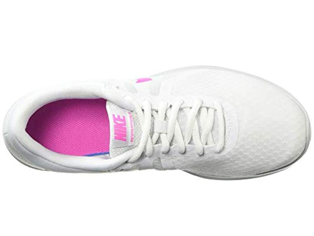 quality design 8d535 1dc9f Nike - Revolution 4 Running Shoe, White laser Fuchsia-pure Platinum, 12.  View fullscreen