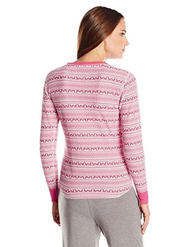 9b4ebf23a2d8 Lyst - Hanes X-temp Thermal Underwear Crew Shirt in Pink - Save 37.5%