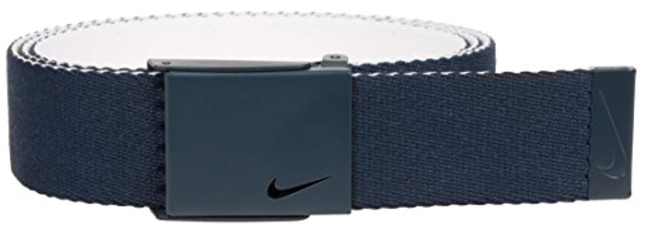 527d150454 Lyst - Nike New Tech Essentials Reversible Web Belt, College Navy ...