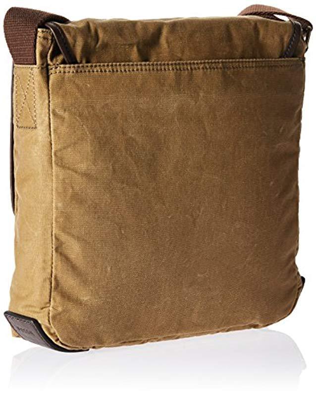 d48a6ff00ec6 Lyst - Fossil Buckner Leather Trim City Bag in Brown for Men