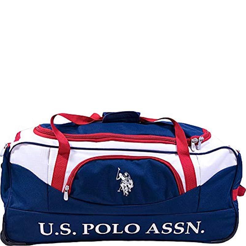 Lyst - U.S. POLO ASSN. 36in Rolling Duffel Bag Duffel Bag in Blue ... 07da2490e09cf