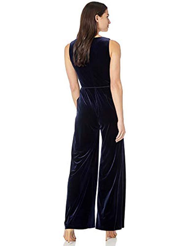 43bc8a96c94 Lyst - Eliza J V-neck Wide Leg Jumpsuit