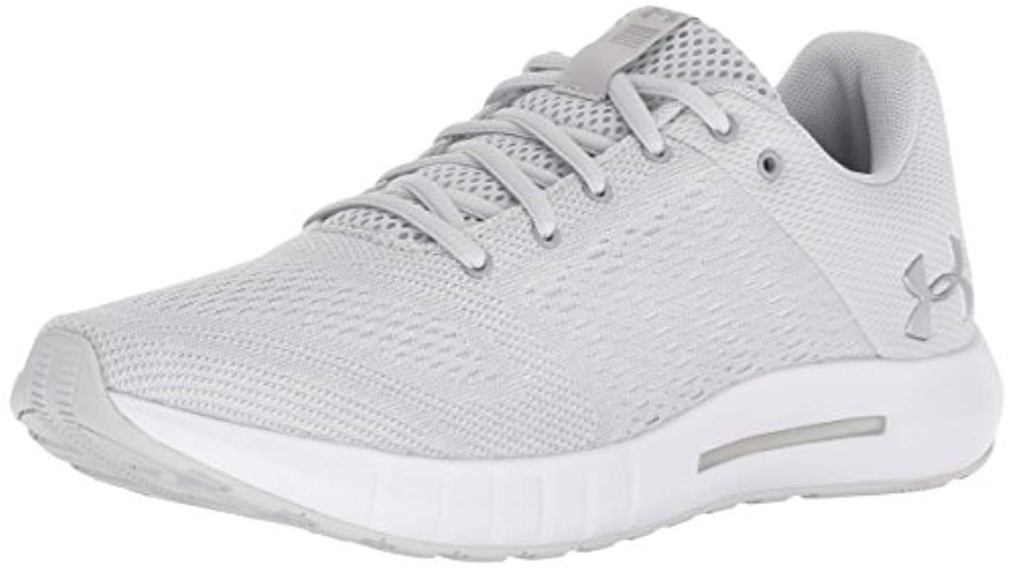 the best attitude 60ba4 b8346 Under Armour - White Ua W Micro G Pursuit Competition Running Shoes - Lyst