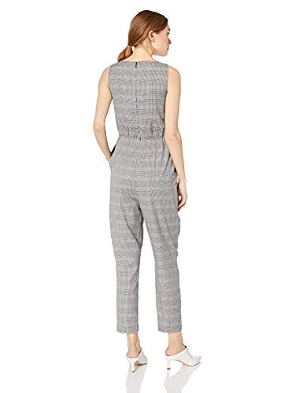 d20dd8933b14 Ali   Jay - Gray Serious Business Sleeveless Straight Leg Slim Jumpsuit -  Lyst. View fullscreen