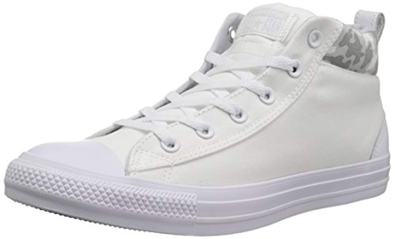 be5458a5960266 Lyst - Converse Chuck Taylor All Star Street Mid Sneaker in White ...