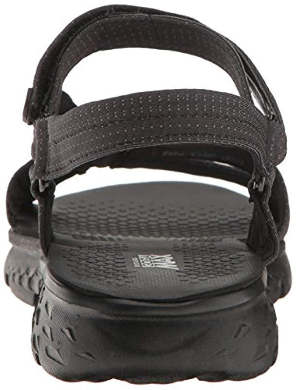 d91b1a89954 Lyst - Skechers Performance On The Go 400 Radiance Flip Flop in Black -  Save 4.0%