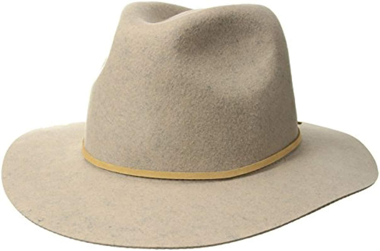 eb6c0759202 Lyst - Brixton Wesley Fedora Hat in Gray for Men - Save 4%