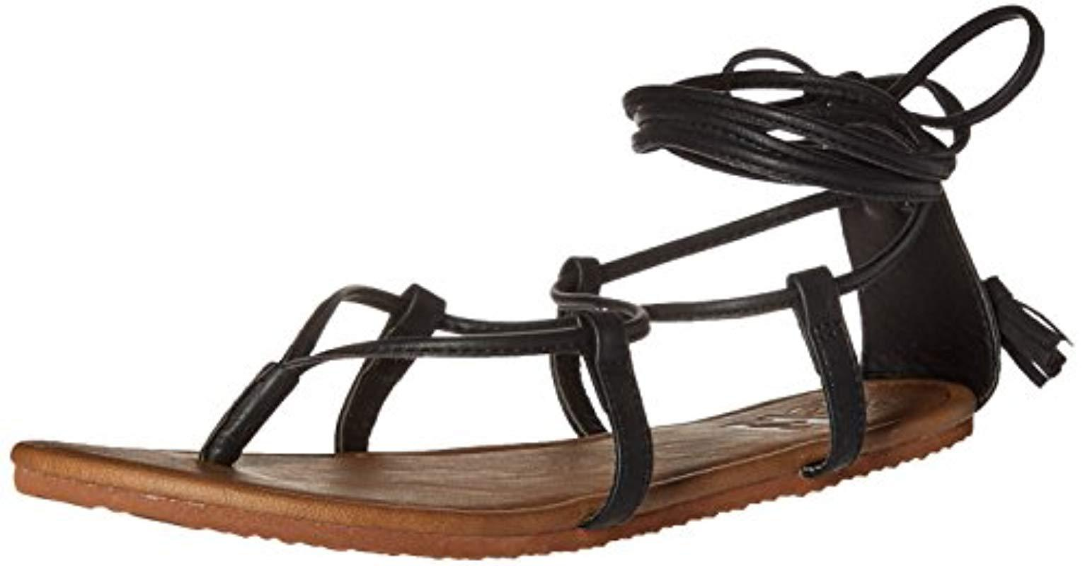 bd6d51b5d76 Lyst - Billabong Around The Sun Gladiator Sandal in Black