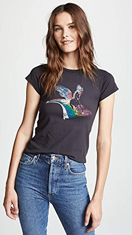 Lyst - Pam   Gela Crew Neck Tee-unicorn in Black - Save 34% e667bc3ef