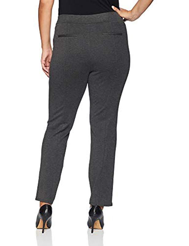 0b5cfdf3d0f Lyst - Rafaella Plus-size Ponte Comfort Fit Slim Leg Pants in Gray - Save  9.090909090909093%
