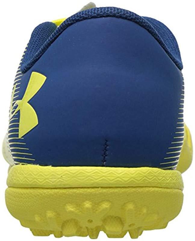 timeless design 258ae e1fb6 Lyst - Under Armour Spotlight Turf Jr. Soccer Shoe, Tokyo Lemon  (300)/moroccan Blue, 4 in Yellow - Save 31.818181818181813%