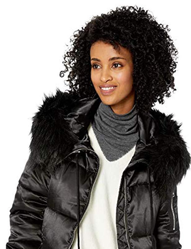 Jessica Simpson Womens Long Fashion Puffer Jacket Down Alternative Coat