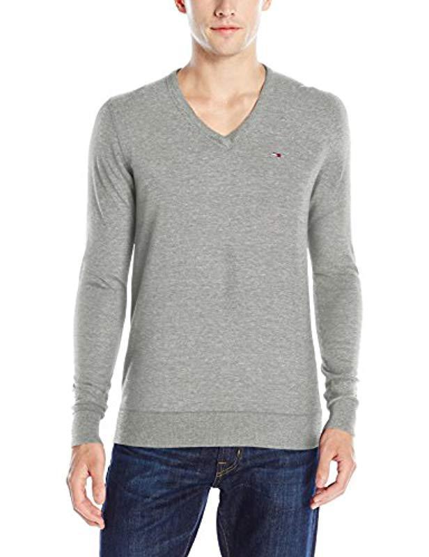 1ba33e0c Lyst - Tommy Hilfiger Denim Original Cotton-blend V-neck Long-sleeve ...
