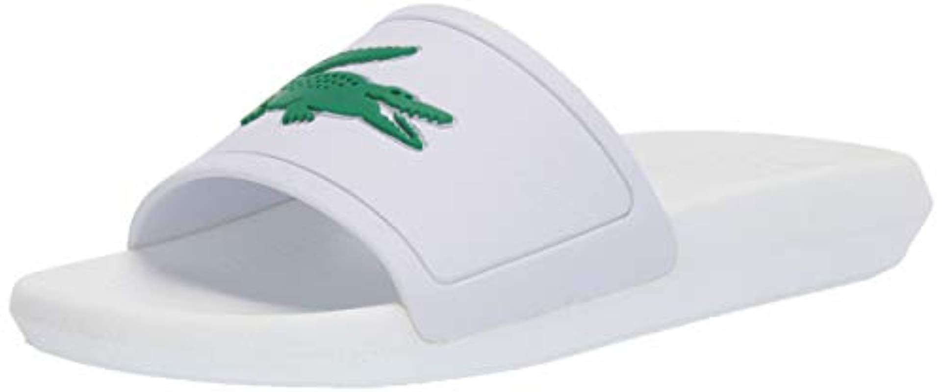 47c3e7d5943e Lyst - Lacoste 's Croco Slide 119 3 Cfa Open Toe Sandals in White ...