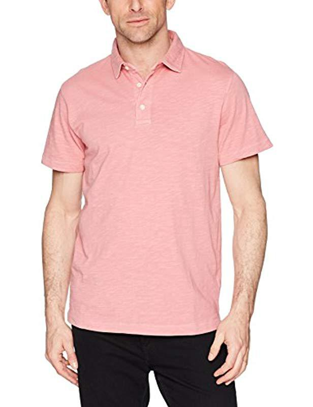c095311b French Connection. Men's Pink Short Sleeve Solid Color Regular Fit Cotton  Polo Shirt