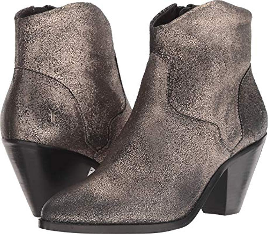 637bb3874a Lyst - Frye Lila Western Short Fashion Boot Gold 7.5 M Us in Metallic
