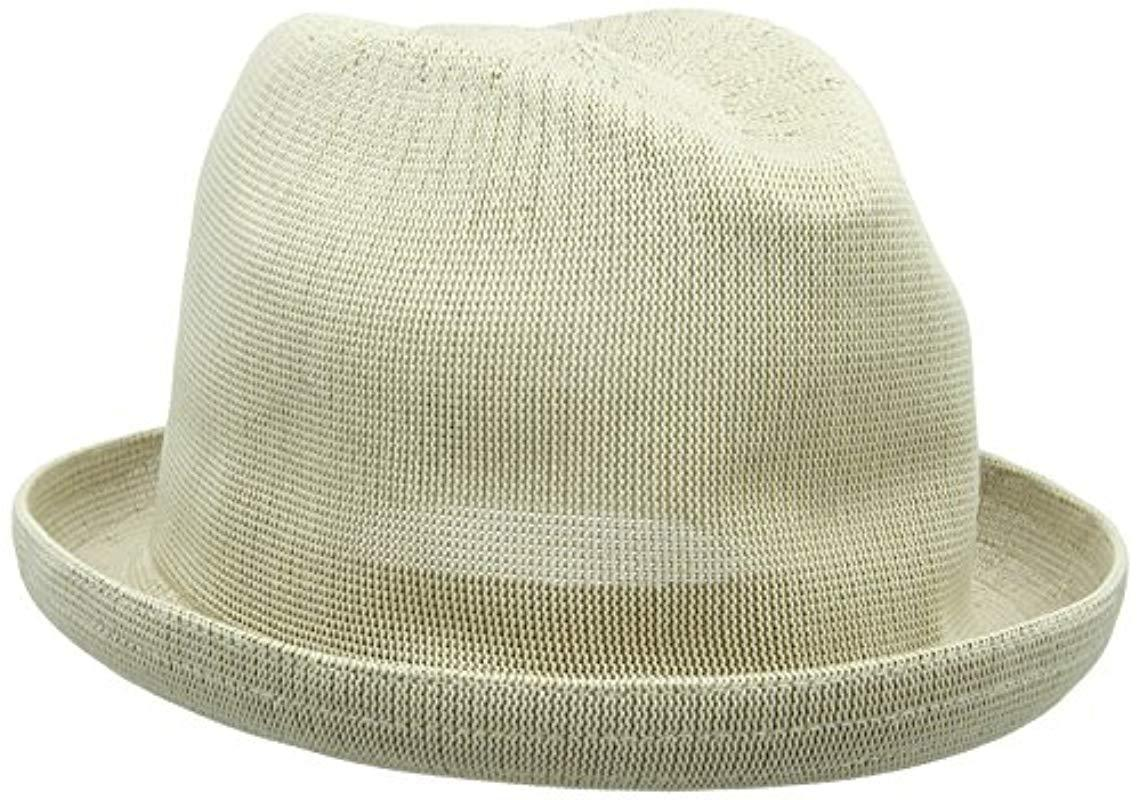 c3ec2d4fdd010 Lyst - Kangol Tropic Player Fedora Hat in Natural for Men