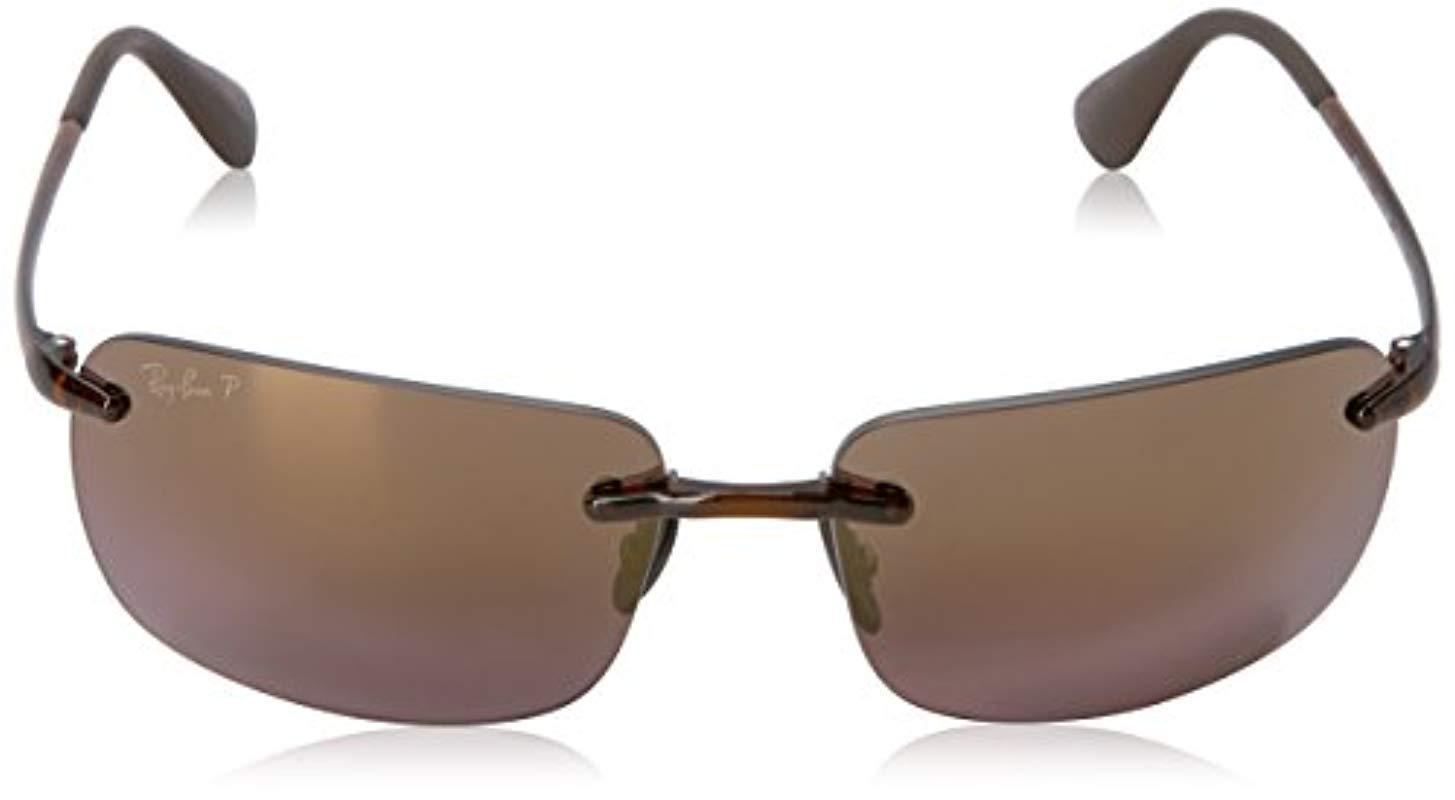 39e02b9943 Ray-Ban - Brown Rb4255 Chromance Lens Navigator Sunglasses for Men - Lyst.  View fullscreen