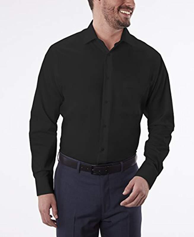 40c525ec9d Lyst - Geoffrey Beene Regular Fit Sateen Solid Dress Shirt in Black for Men  - Save 62%