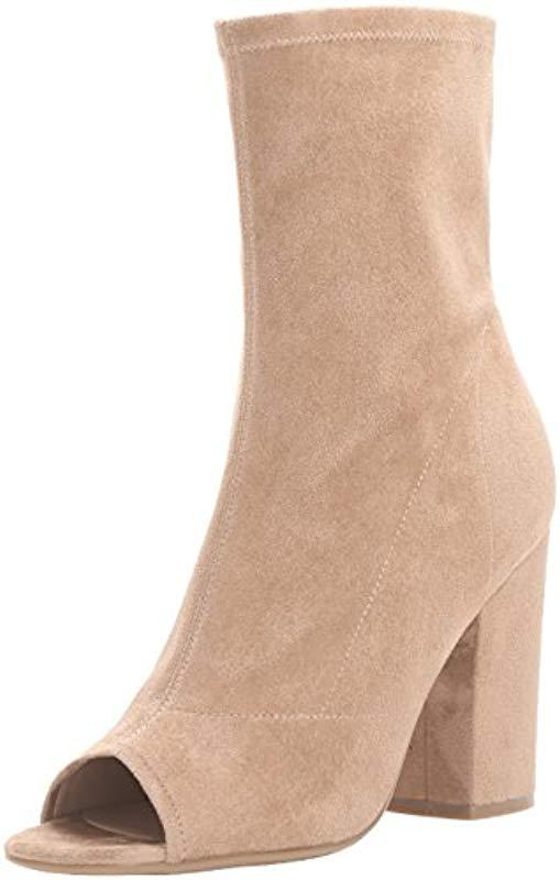 d69802660d5 Lyst - Guess Galyna2 Ankle Bootie in Natural - Save 28%