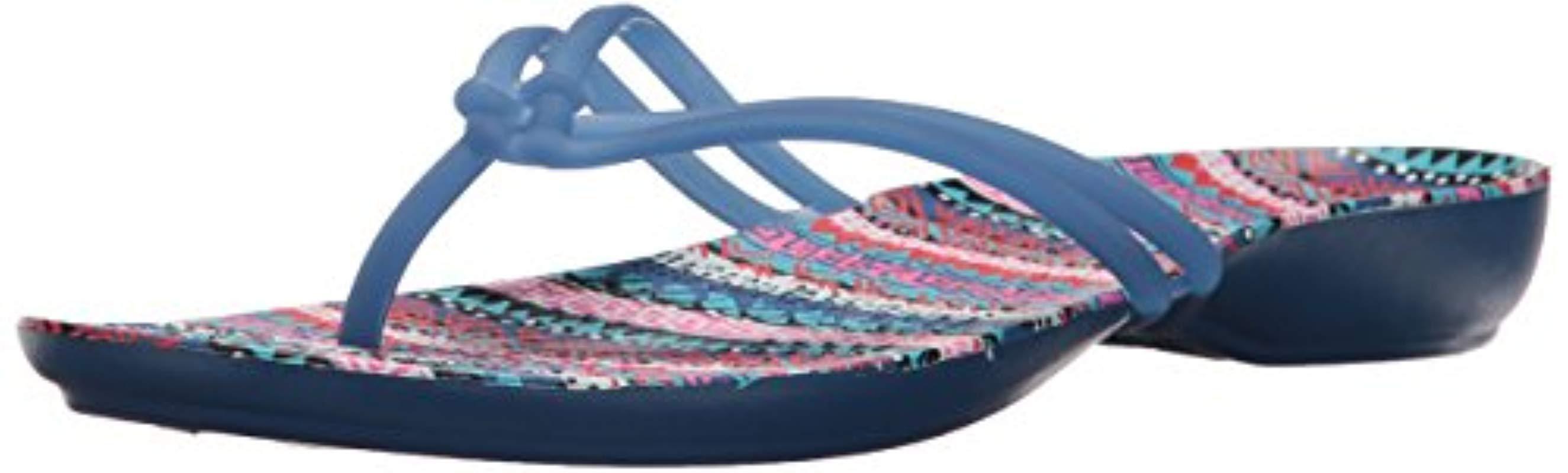 ac107b75f Lyst - Crocs™ Isabella Graphic Flip in Blue - Save 29.411764705882348%