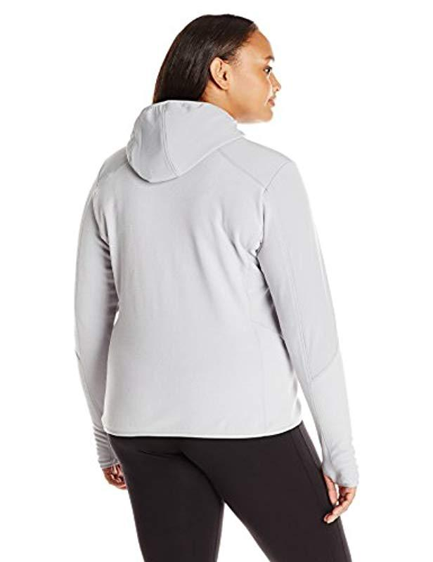 bb6d194e9a4 Lyst - Champion Plus Size Textured Fleece Jacket With Hood in Gray - Save  36.92307692307692%
