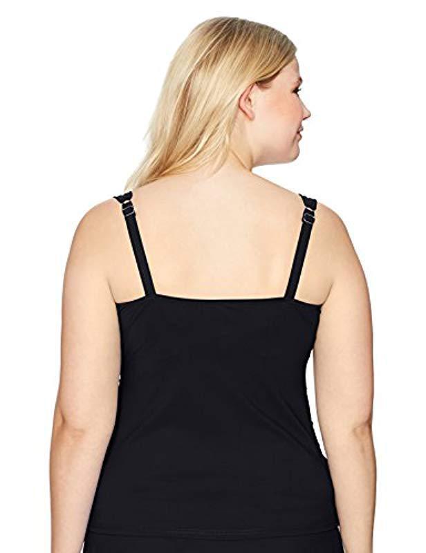 28b93cd05f0 Lyst - Gottex Plus-size Sweetheart Tankini Top Swimsuit in Black - Save 66%