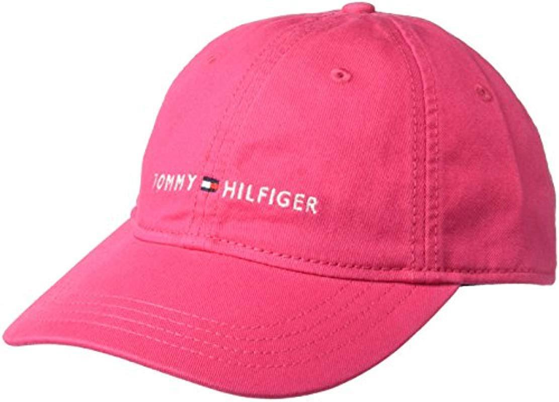 Tommy Hilfiger - Pink Logo Dad Baseball Cap for Men - Lyst. View fullscreen f71787d1a14e