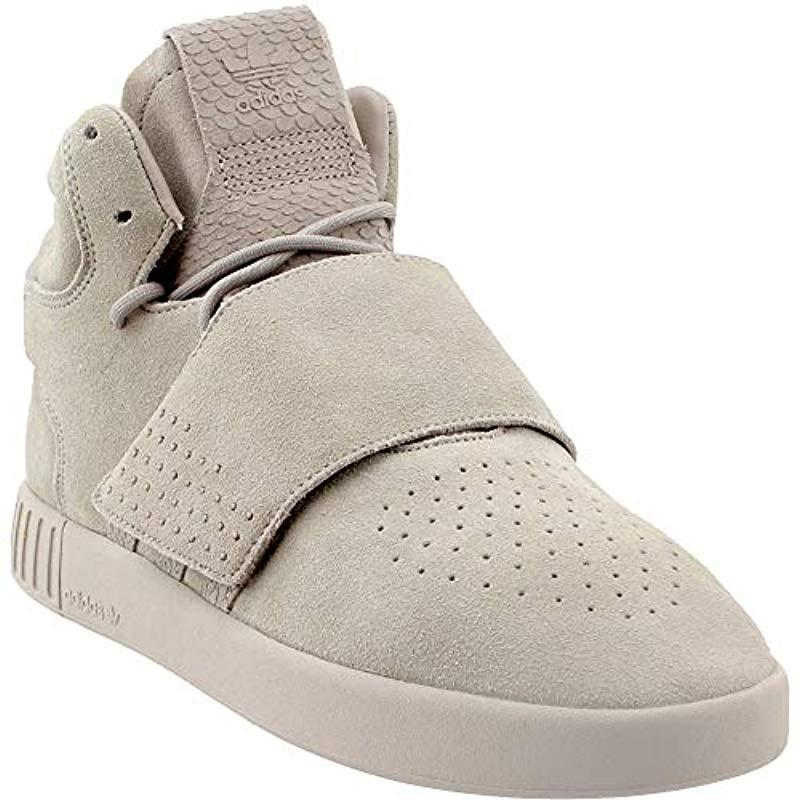 59c4c4def58f1 Lyst - adidas Originals Tubular Invader Strap Shoes in Gray
