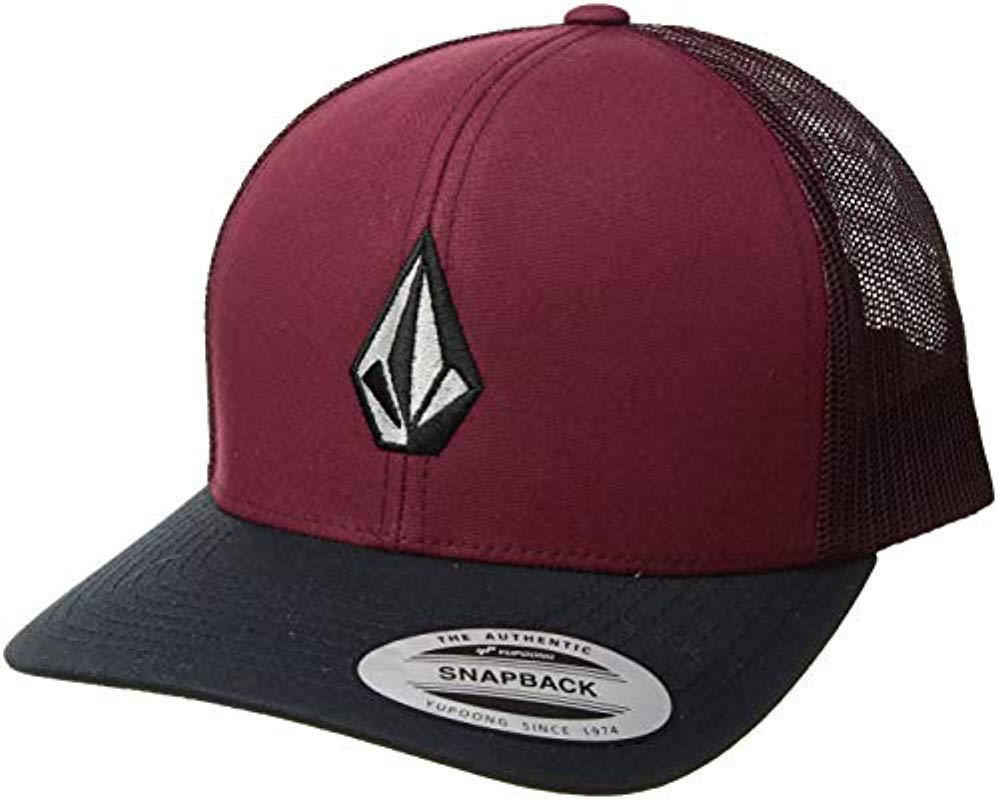 2583bbca Lyst - Volcom Full Stone Cheese Hat in Red for Men