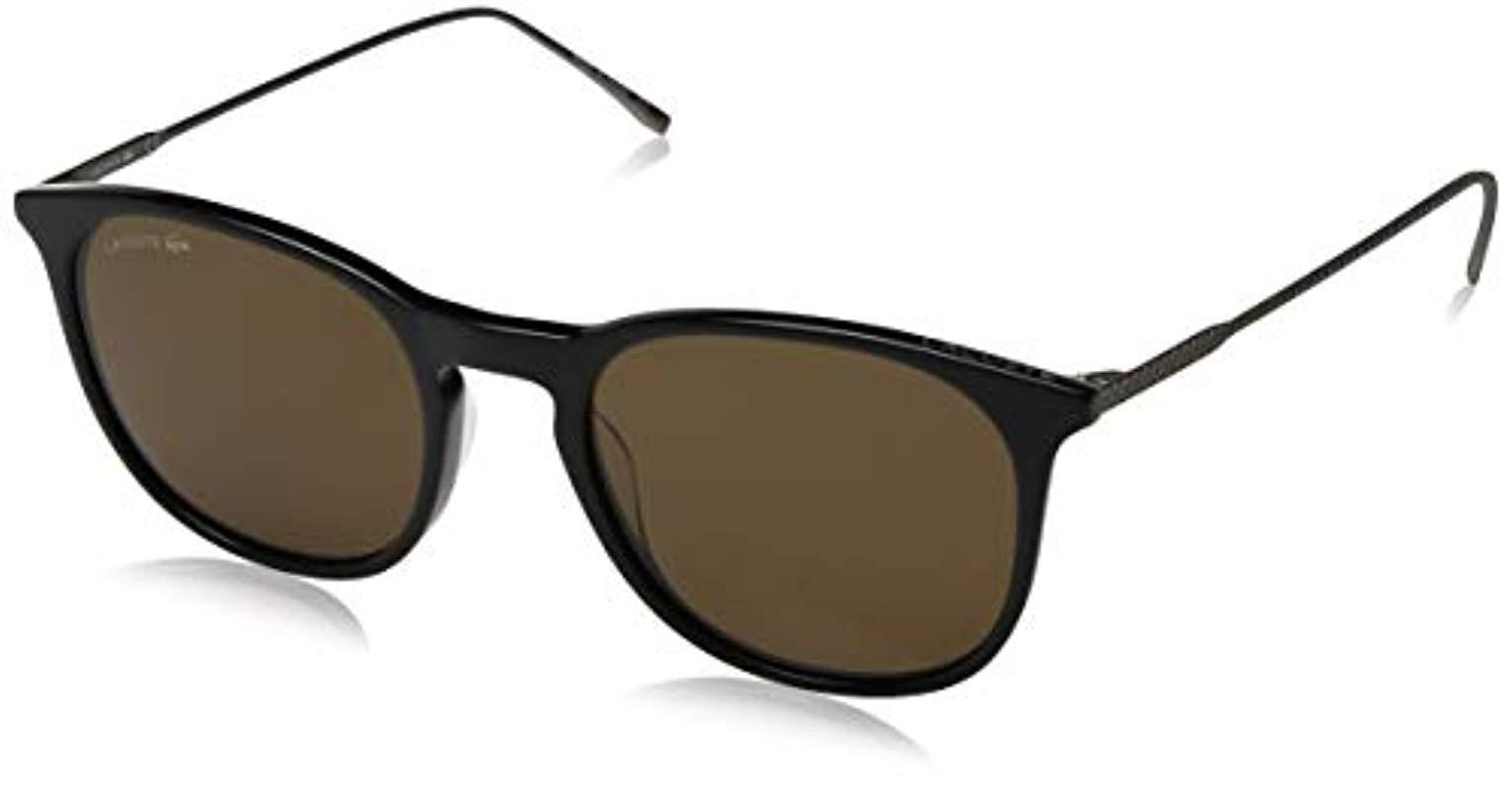 92bf525669f Lyst - Lacoste L879s Oval Sunglasses Dark Grey 52 Mm in Gray for Men