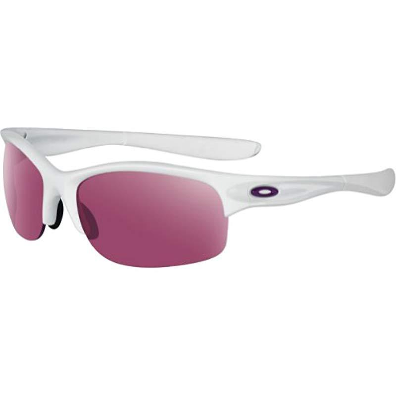 c94669b1aff Lyst - Oakley Commit Iridium Rimless Sunglasses in White