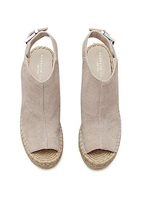 f03d4f16e574 Lyst - Kenneth Cole Olivia Leather Espadrille Wedge in Natural