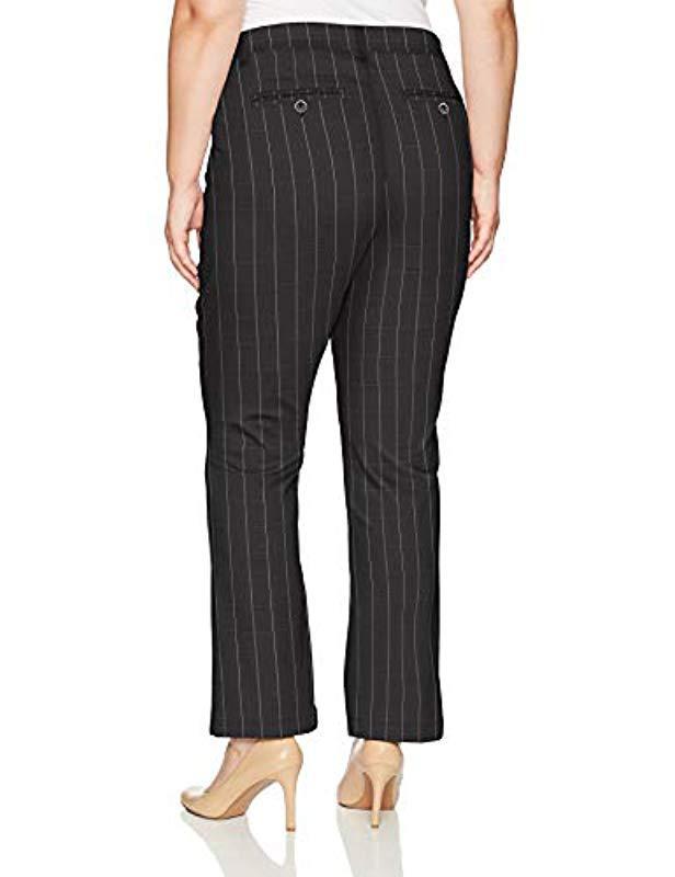 31fe232b388 Lyst - Lee Jeans Plus Size Flex Motion Regular Fit Straight Leg Pant in  Black