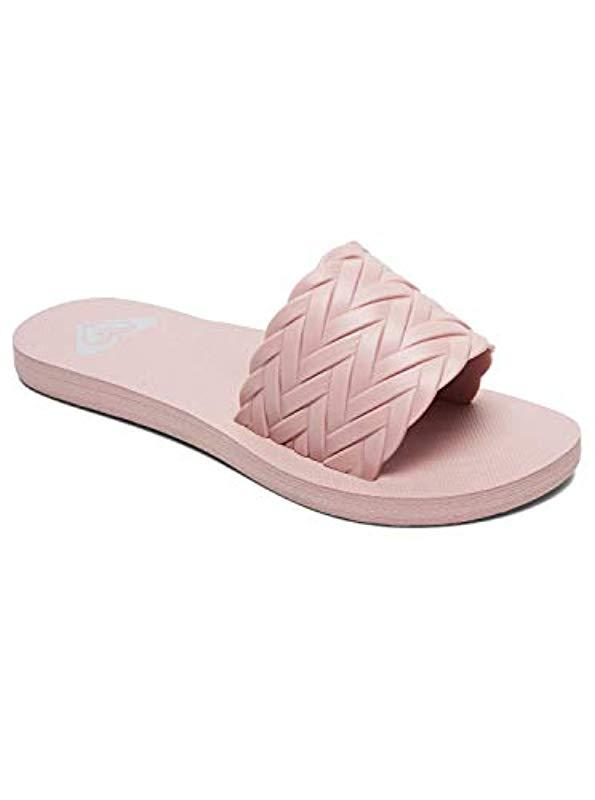 3f9b4ffde Lyst - Roxy Kirbi (silver) Women s Sandals in Pink