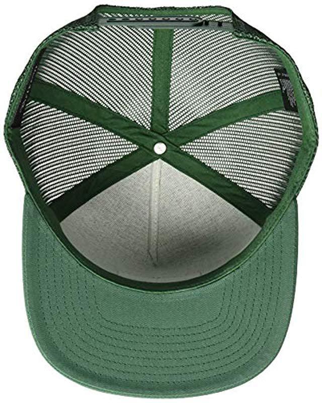 8ad458818fc Brixton - Green Palmer Medium Profile Adjustable Mesh Hat for Men - Lyst.  View fullscreen