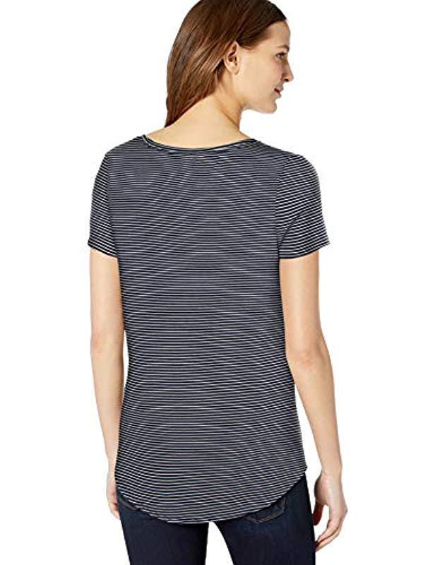 78a23a10c6eb Amazon Essentials - Blue Short-sleeve V-neck Tunic - Lyst. View fullscreen