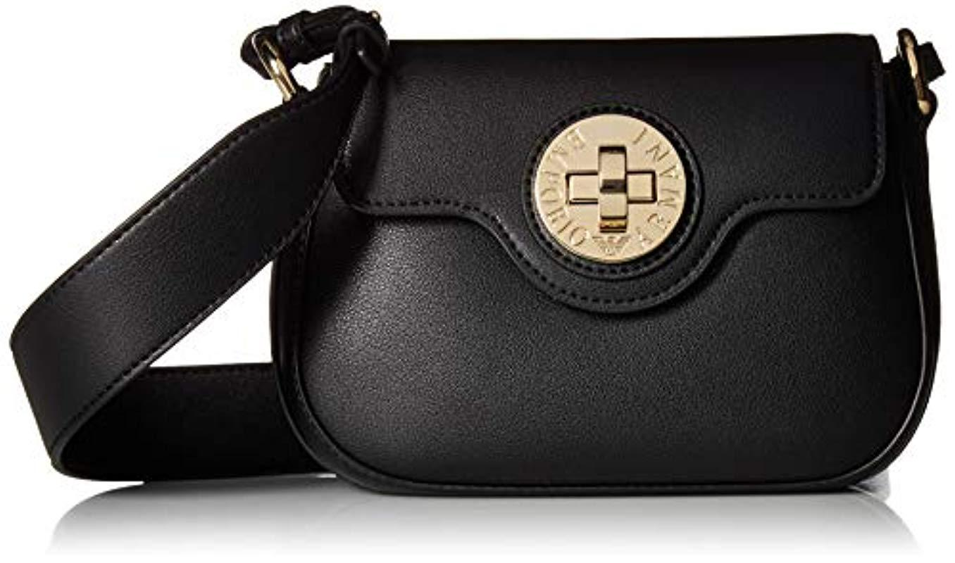 413368b47cde Lyst - Emporio Armani Designer Sling Bag With Lock Closure