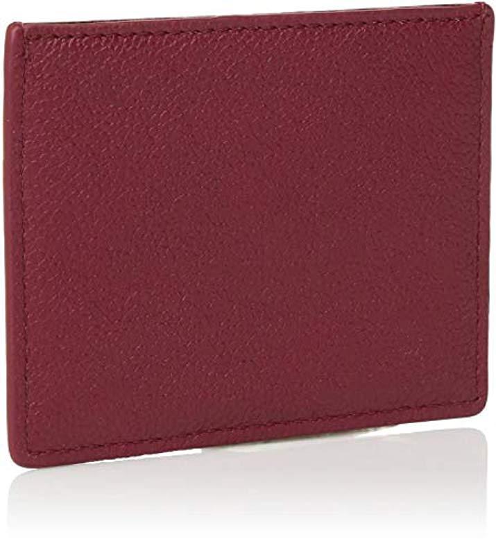 Emporio Armani - Purple Designer Leather Cardholder for Men - Lyst. View  fullscreen c8142572b8